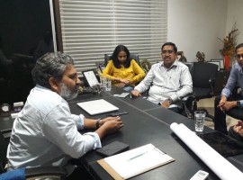 Andhra Pradesh Chief Minister N. Chandrababu Naidu has asked a British architectural firm to take inputs from well-known Telugu filmmaker S.S. Rajamouli in finalising designs for some key government buildings in upcoming state capital Amaravati. Naidu suggested that Rajamouli, famous for his blockbusters 'Baahubali' and 'Baahubali 2: The Conclusion' be flown to London in the coming weeks for his inputs to Foster and Partners firm.