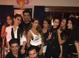 Kareena Kapoor celebrates her 37th Birthday with Saif Ali Khan, Karan Johar, Malaika Arora Khan, Karisma Kapoor, Amrita Arora.