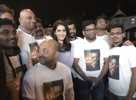 Actress Raashi Khanna watched her latest Telugu release