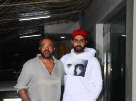 Bollywood actor Abhishek Bachchan spotted at Haseena special screening at Sunny Super Sound.