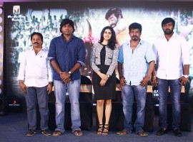 Tamil movie Karuppan Team Meet held at Chennai. Celebs like Actor Vijay Sethupathi, Actress Tanya, Director R Panneerselvam, Producer AM Rathnam, Picture Box Company Alexander at the event.