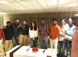 Magalir Mattum success party event held in Chennai. Actor Suriya and Jyothika graced the event.