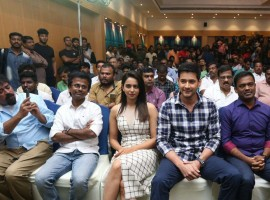 Spyder Movie Press Meet at Chennai. Celebs like Mahesh Babu, Rakul Preet Singh, AR Murugadoss, SJ Surya, Bharath and others graced at the event.