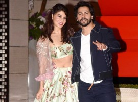 The 'Judwaa 2' cast had earlier attended the Falguni Pathak Dandiya event after which Varun and Jacqueline proceeded to the birthday bash. Varun Dhawan and Jacqueline Fernandez would be seen sharing screen space for the second time after collaborating for 'Dishoom'. The duo looked their stylish best as Jacqueline Fernandez wore a pastel flora lehenga and Varun Dhawan suited up in a casual manner. Sajid Nadiadwala's 'Judwaa 2' features Varun Dhawan bringing back to celluloid the iconic characters of Raja and Prem portrayed by Salman Khan in the 1997 Judwaa.