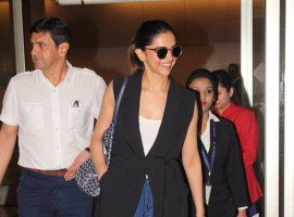 Padmavati actress Deepika Padukone snapped at airport.