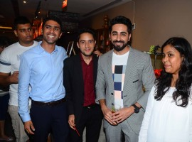Actor Ayushmann Khurrana interacts with media on Shubh Mangal Saavdhan success.