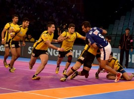 Telugu Titans scored an impressive 44-22 victory as they inflicted eighth consecutive defeat on Dabang Delhi in an inter zone clash of the Pro Kabaddi League (PKL) here on Thursday. It was Delhi's overall 13th defeat of their disappointing campaign. Rahul Chaudhri got all the plaudits as he ended up with 16 points for Telugu Titans.