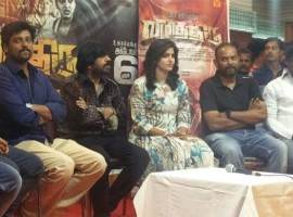 Tamil Movie Vizhithiru press meet held at Chennai. Celebs like T Rajendar, Dhansika, Krishna Kulasekaran, Venkat Prabhu graced the event.