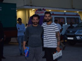 Two of India's most rare personalities Aamir Khan and Virat Kohli came together for a Diwali special chat show today. The Dangal star had specially flown from Singapore to shoot this special chat show, with Virat Kohli a first for the duo. Both the luminaries had a gala time with each other while shooting for the festive special episode.