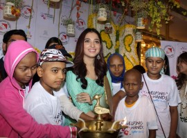 Actress Tamannaah Bhatia meets Cancer affected children in Mumbai.