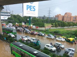 Heavy rains disrupt normal life in parts of Bengaluru.