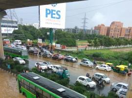 Heavy rains disrupt normal life in parts of Bengaluru.