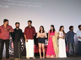 Tamil movie Nenjil Thunivirunthal audio launch event held at Chennai. Celebs like Karthi, Vikranth, Sundeep Kishan, D Imman, Harish Uthaman, Swathi, T. Siva, Dhileepan, Appukutty, Thulasi, Vinoth Kishan graced the event.