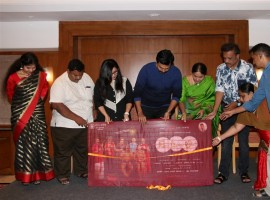 Tamil movie Idli Movie Teaser launched in Chennai. Celebs like Karthi, Saranya Ponvannan, Kovai Sarala, Abbas Thooyavan and others graced the event.
