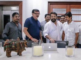 South Indian Actor Mohanlal launched Director Priyadarshan Udhayanidhi Stalin new movie Nimir title poster.