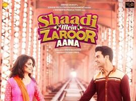 Actor Rajkummar Rao reveals the first poster of Shaadi Mein Jaroor Aana by tweeting: Here's the first look poster of #ShaadiMeinZaroorAana. Releasing on 10th November. Kuch alag hi hai ye Shaadi, kyun @kriti_official.