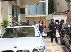 Bollywood Actress Kangana Ranaut spotted at Arts in Motion Studios for her sword fighting training.