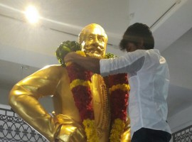 Sivakarthikeyan visits Nadigar Thilagam Sivaji Ganesan memorial hall.