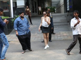 Actress Hansika Motwani spotted at Hakkasan Bandra.