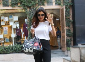 Bollywood actress Shilpa Shetty spotted at Anita Dongre's store.