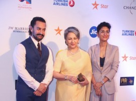 Kiran Rao and Aamir Khan spotted at Jio Mami Film Festival 2017.