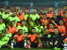 Virat Kohli's All Heart thrash All Stars led by Bollywood actor Ranbir Kapoor in a charity football match, Celebrity Clasico at the Mumbai.