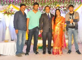 Vennela Kishore at Comedian actor Harish wedding reception.