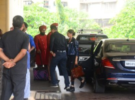 Deepika Padukone spotted JW Marriott Hotel in Juhu.