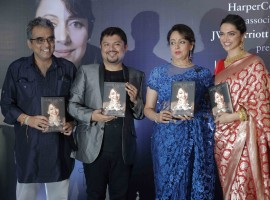 Deepika Padukone graces the launch of Hema Malini's book 'Beyond The Dream Girl' at JW Marriott.