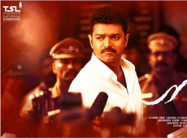 Actor Thalapathy Vijay's Mersal release poster.