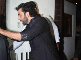 Ranbir Kapoor spotted at Aamir Khan's Diwali Party.