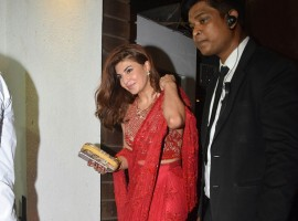 Jacqueline Fernandez spotted at Aamir Khan's Diwali Party.