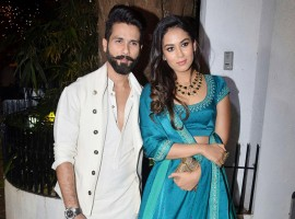Shahid Kapoor and Mira Rajput spotted at Aamir Khan's Diwali Party.