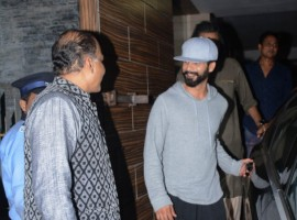 Actor Shahid Kapoor, Ashutosh Gowariker spotted at Amir Khan's house.