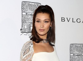 Model Bella Hadid attends Bulgari 5th Avenue flagship store opening on October 20, 2017