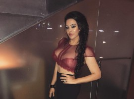 Bollywood actor Sanjay Dutt's daughter Trishala Dutt sets pulses racing in a crochet maroon crop top.