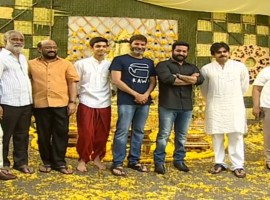 NTR 28: Actor Powerstar Pawan Kalyan launches Jr NTR and Trivikram Srinivas' film.