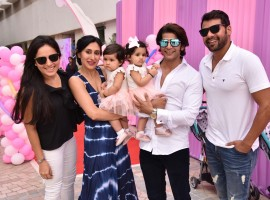 Karanvir Bohra and Teejay Sidhu celebrated their kids 1st birthday on 22nd Oct.