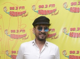 Actor Irrfan Khan promotes his upcoming movie Qarib Qarib Singlle at Radio Mirchi.