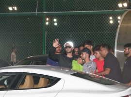 Actor Ranveer Singh spotted at Football Playground in Mumbai.