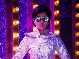 Actress Tamannaah Bhatia copies superstar Rajinikanth Robot Costume on TV show