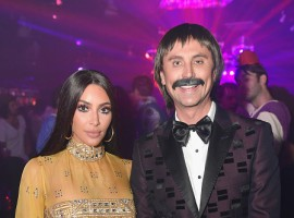 Kim Kardashian and Jonathan Cheban attend Casamigos Halloween Party in Los Angeles.