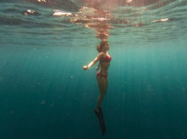 South Indian actress Shriya Saran flaunts her hot bikini avatar underwater.