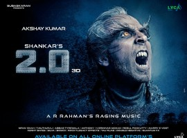 A new poster of Akshay from the upcoming 3D sci-fi entertainer was unveiled on Wednesday. The National-Award winner is seen sporting spikey teeth, golden-yellow eyes, white hair and long eyelashes and brows. Akshay will be essaying the prime antagonist in the film as an eccentric scientist named Richard, while Rajinikanth returns as scientist Vaseegaran.