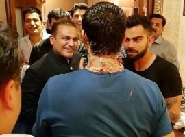 Virat Kohli, Virender Sehwag attend Ashish Nehra's farewell party