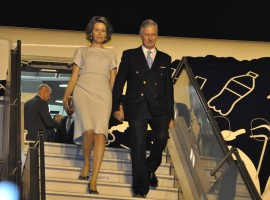 Belgium's King Phillipe and Queen Mathilda, accompanied by a large business and academic delegation, arrived here on Sunday evening on a week-long state visit to India. President Ram Nath Kovind will meet the royal couple on Tuesday after bilateral talks between King Phillipe and Prime Minister Narendra Modi. King Philippe and Queen Mathilde are being accompanied by six ministers and a high-powered business delegation comprising CEOs of nearly 90 Belgian companies and over a dozen chiefs of academic institutions.