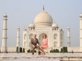 Belgium's King Phillipe and Queen Mathilda on Monday visited the Taj Mahal in New Delhi.