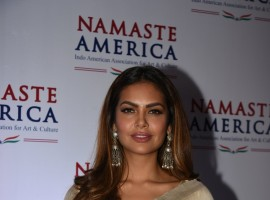 Actress Esha Gupta during a press conference of Namaste America in Mumbai.