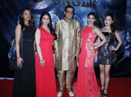 Reshma Bari, Kashish Rai, Director Asgar Khan, Vanshika Soni and Sana at the launch of their film, Bermuda Triangle.