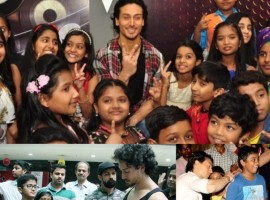 Tiger Shroff who is one of the most popular actors amongst kids always gets approached for autographs by his little fans as kids mostly don't own a cell phone. Tiger who is also the brand ambassador for a kids channel is seen being a favorite among them.